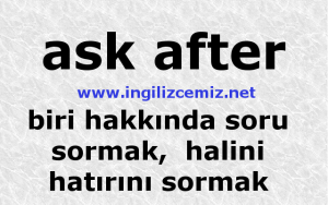 ask after