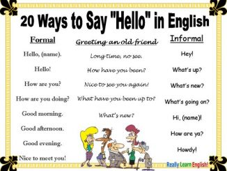 english greetings