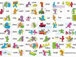 learning verbs with pictures